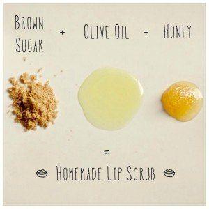Самодельный скраб для губ   Из коричневого сахара, оливкового масла и мёда получается отличный скраб для губ, а главное — натуральный