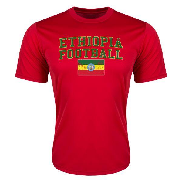 Ethiopia Football Training T-Shirt (Red)