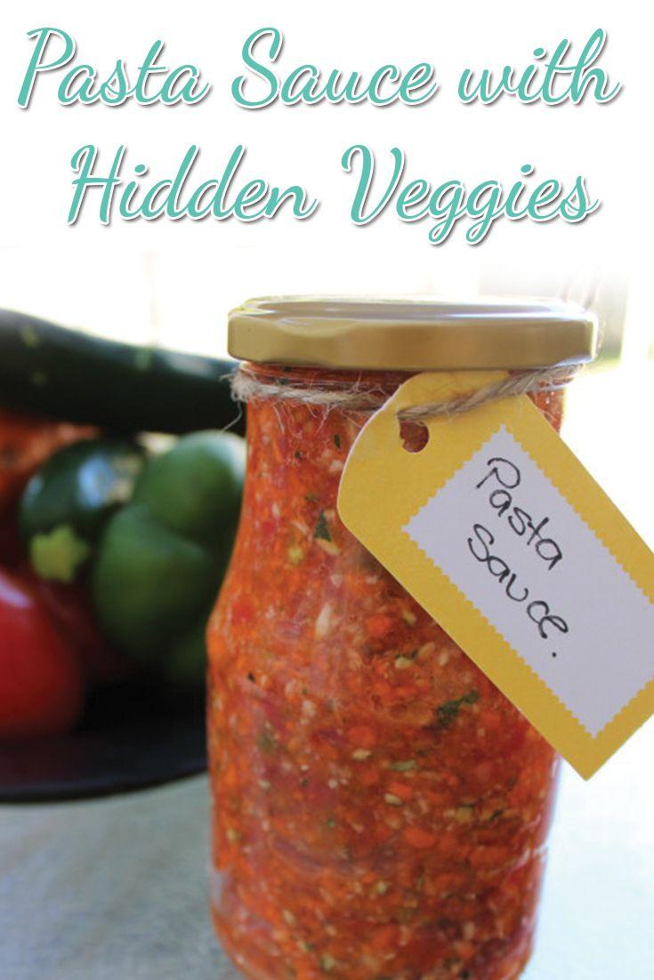 Pasta Sauce with Hidden Veggies