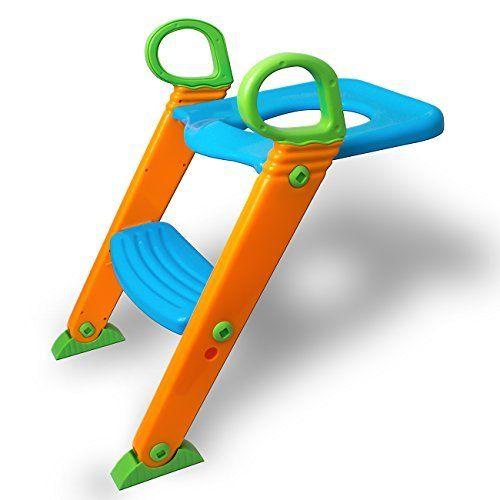 KidsKit 3 in 1 Potty Training Seat Potty Chair   Potty Seat Training Sturdy Non-Slip Ladder, Toilet Seat Reducer Portable Potty