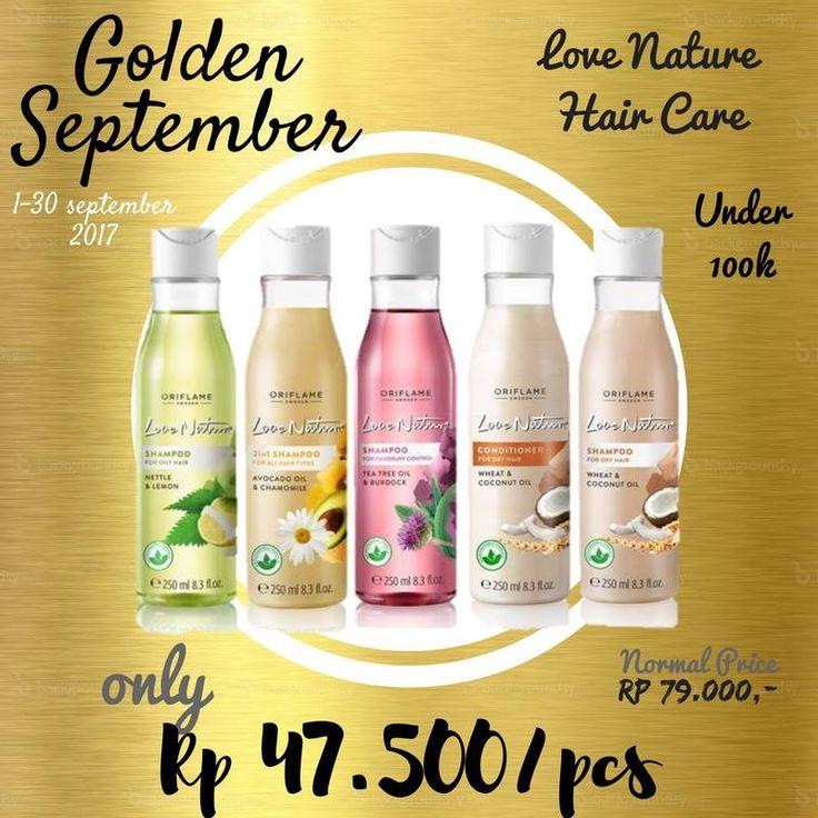 Love Nature Shampoo ada 4 varian aroma buah dan bunga hanya Rp47500/pc.  WA 081232201988 (Lukki)