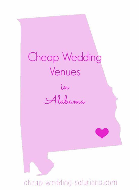 List of cheap Alabama wedding venues - perfect for a fab budget wedding  http://www.cheap-wedding-solutions.com/alabama-wedding-venues.html