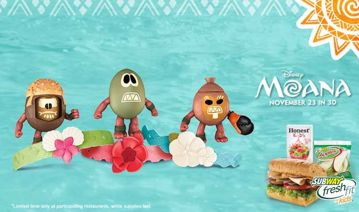 Subway Offering Moana Toys In Kids Meals
