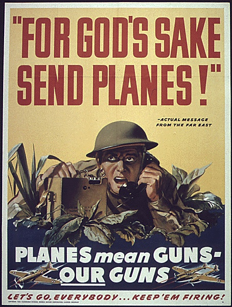 """For God's Sake Send Planes"" US OEM OWI Domestic Operations Branch Bureau of Special Services c. 1942-1945"