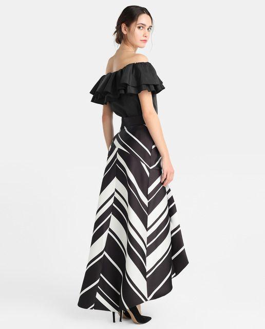 Falda larga de mujer Fiesta El Corte Inglés con rayas