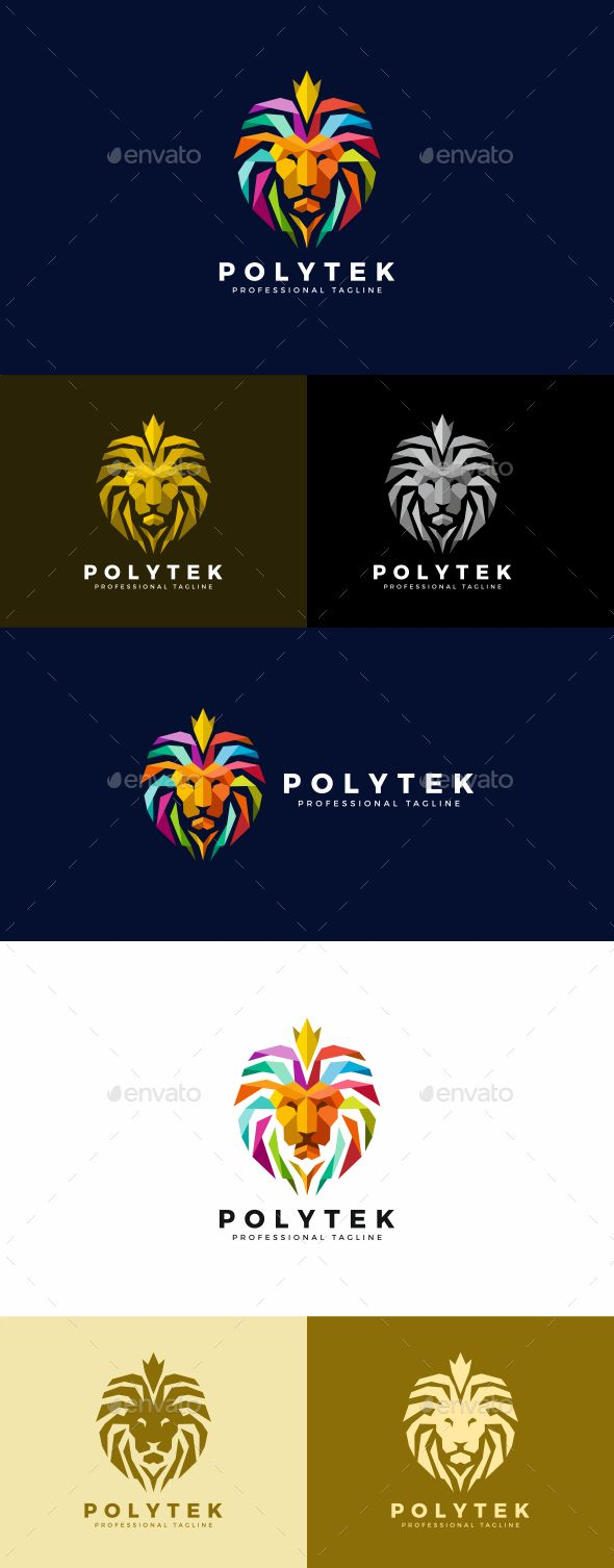 Lion Logo Template PSD, Vector EPS, AI Illustrator