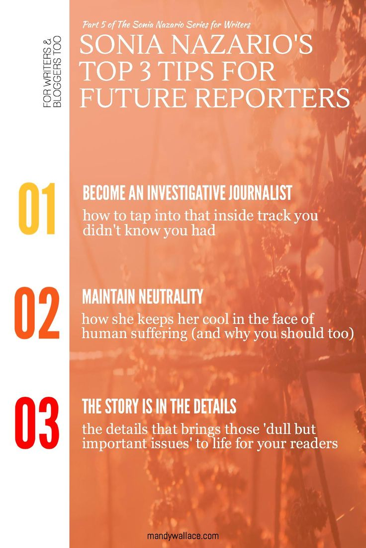 Sonia Nazario's Top 3 Tips for Future Reporters