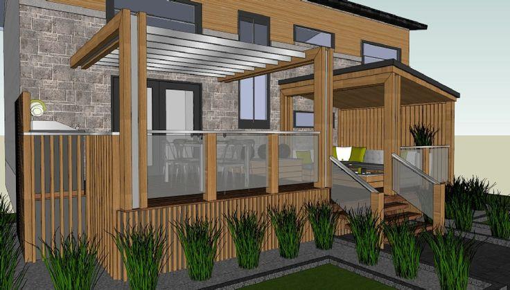 17 meilleures id es propos de abris d 39 arri re cour sur for Recouvrement patio bois