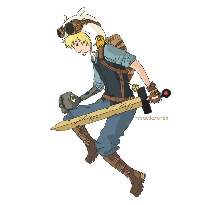 Steampunk Adventure Time - Finn and Jake