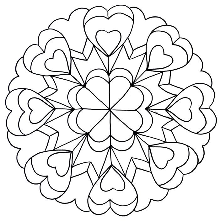 Image detail for ( possible quilting design )        -Mandala zum Ausdrucken und Ausmalen