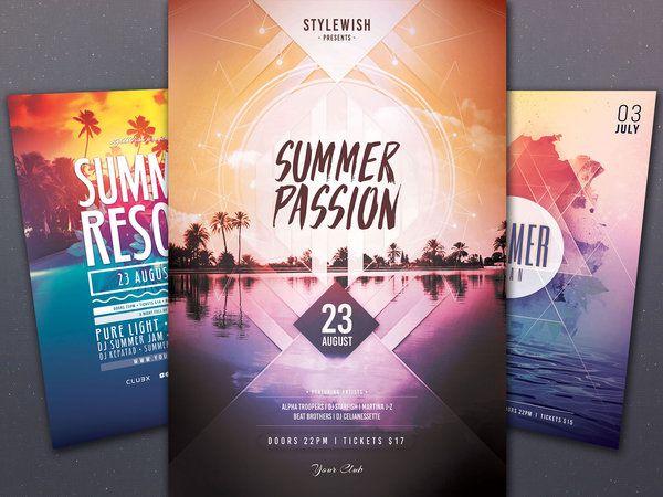 The 111 Best Summer Flyer Design Images On Pinterest Flyer Design