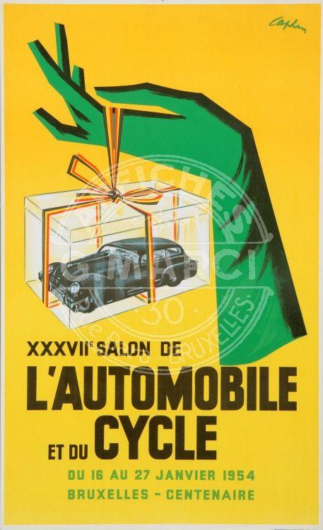 17 best images about affiches bruxelloises brusselse - Affiche salon de l auto ...