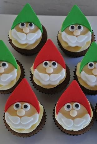Christmas Gnome Cupcakes by The Cupcake House, Hawkesbury, New South Wales, Australia. You'll find this Cake Appreciation Society Member in our Directory at www.cakeappreciationsociety.com