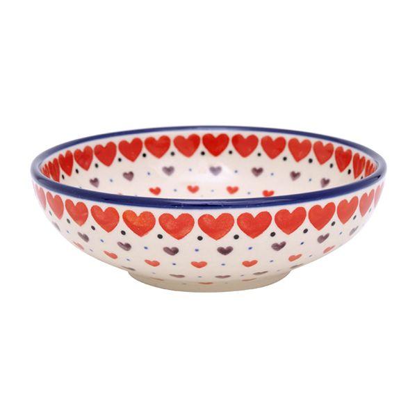 正規代理店ならではの品揃え。人気のポーランド陶器「セラミカアルスティッチナ」の欲しかった品々が多数揃っています。。セラミカ(ツェラミカ)【プティハート】盛鉢17cm|ポーリッシュポタリー(ポーランド陶器・北欧・Ceramika Artystyczna)|※包装のしメッセージカード無料対応