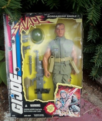 G.I. JOE 1994 TOTAL COMBAT SGT. SAVAGE 12 INCH ACTION FIGURE