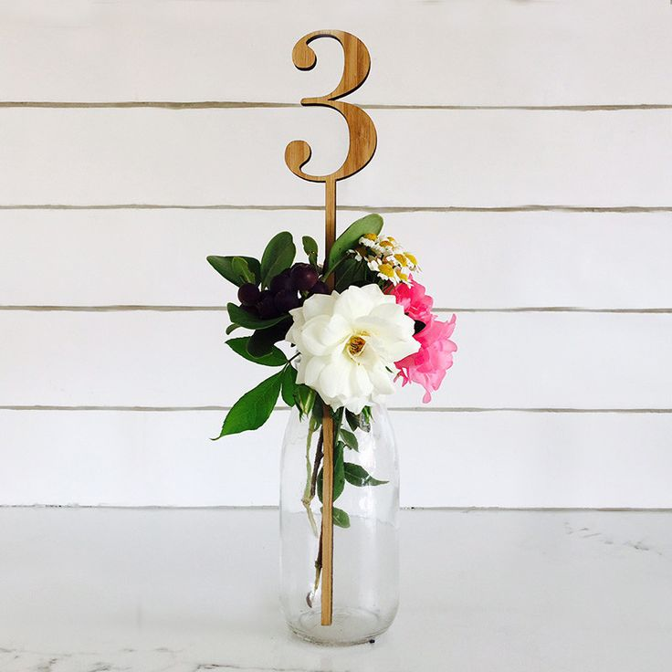 Table number stands. Typewriter numerals laser cut from wood for a vintage, classic take on table decor. Delivery across Australia.
