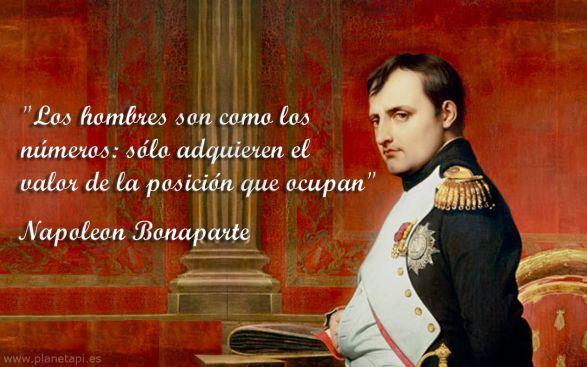 """Napoleón y sus frases """"matemáticas"""".   Matemolivares"""