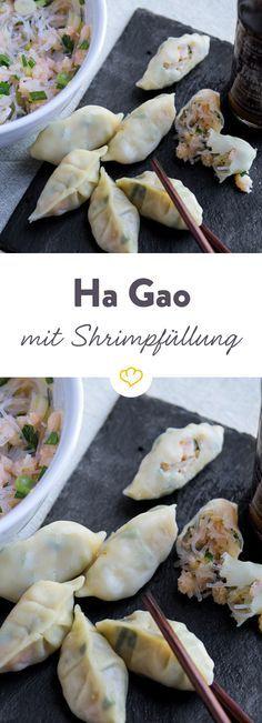 Ha Gao ist ein klassisches Dim Sum. Entdecke die gedämpften Teigtaschen mit Shrimp-Füllung.