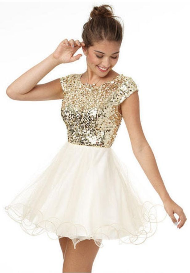 $59.50 Cap Sleeve Sequin and Tulle Dress!! Want for my homecoming dress!!!!!❤️❤️❤️❤️