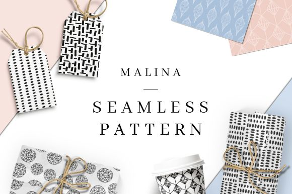 MALINA free seamless patterns are coming to you in one handy pack. This hand drawn patterns are perfect for cards, flyers
