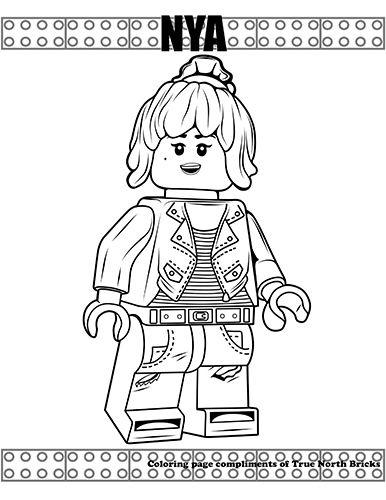 Coloring Page - Nya | Lego coloring pages, Ninjago ...