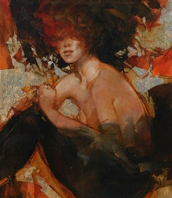 "Vanni Saltarelli, Sweet and Gold, Oil on Canvas, 35.5"" x 31.5"""