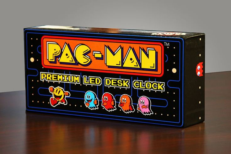 "PAC-MAN LED Desk Clock Gobbles Ghosts In Retro Time  #NAMCO #pacman #retro On May 22, 1980 in Tokyo, legendary Namco developers Toru Iwatani and Shigeo Funaki gave birth to a quirky video game icon-to-be named ""Pakku-Man."" No..."