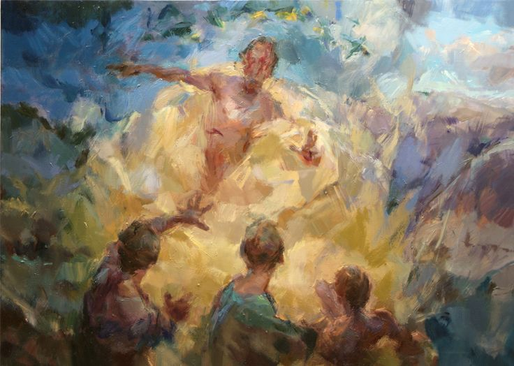 www.trinitypaintbox.com Paint with urgency as though you only have a few minutes. #painting #easter #creativity