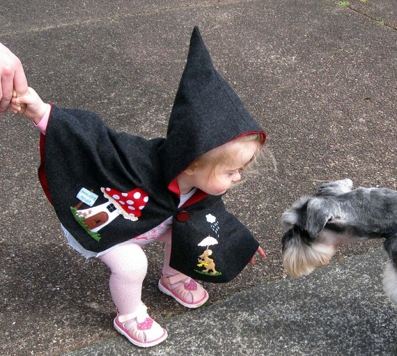 This is too adorable NOT to attempt!!! cape/hood (mini schnauzer ftw!)
