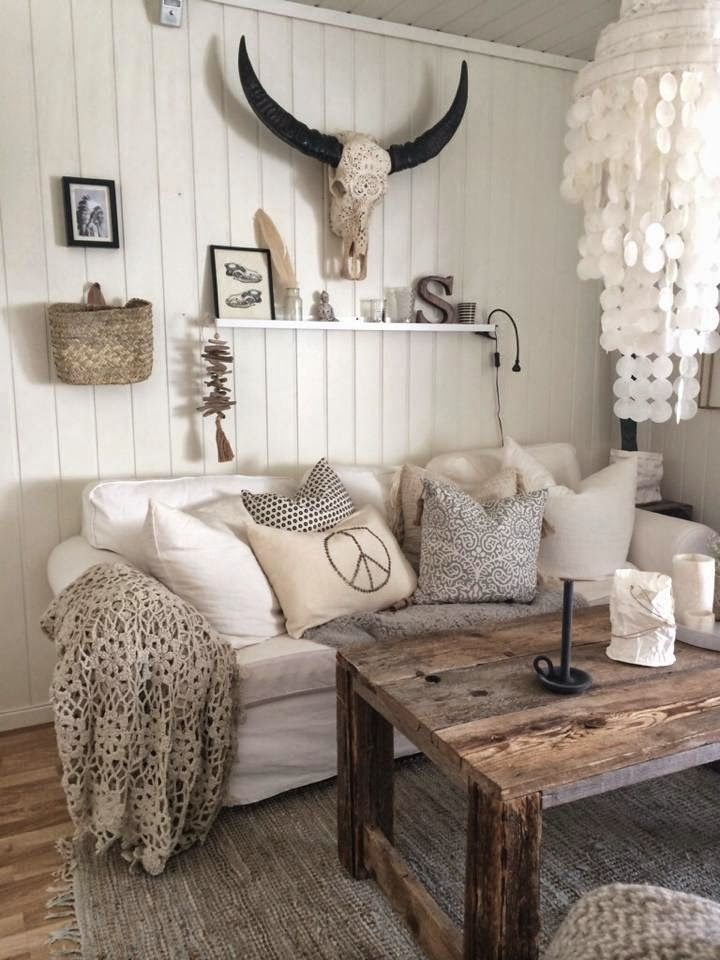 113 best Bright and White Rustic Rooms images on Pinterest Home - western living room decor
