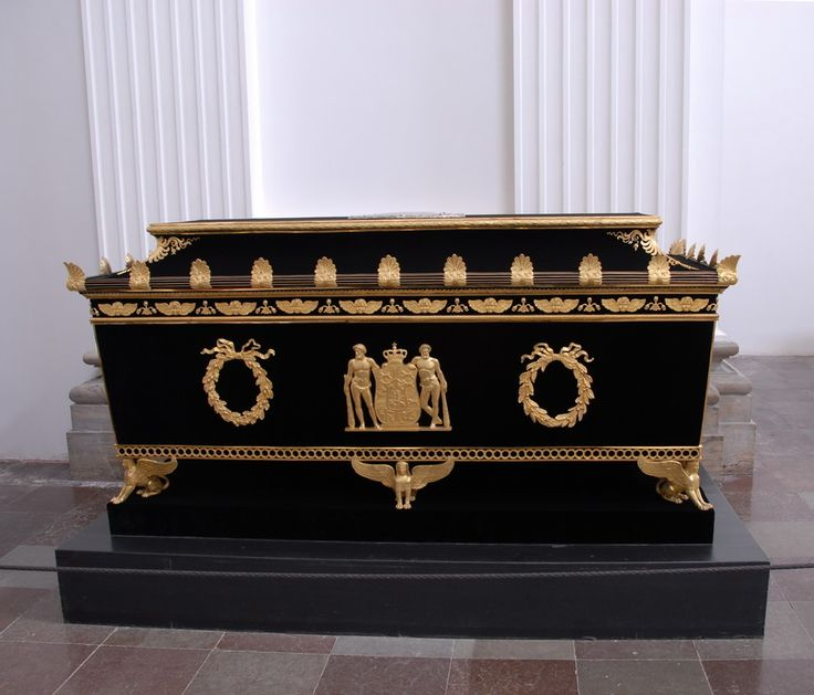 Her sarcophagus in Roskilde Cathedral