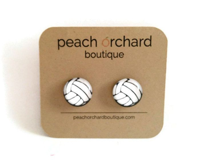 Volleyball earrings- Volleyball Jewelry- Volleyball gifts (14.00 USD) by PeachOrchardBoutique