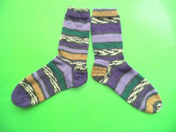 Women knit wool socks Mismatched socks Winter by Knitwoolsocks