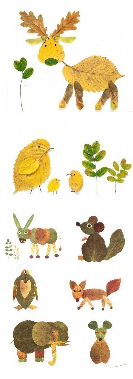 Autumn leaves tinker animals