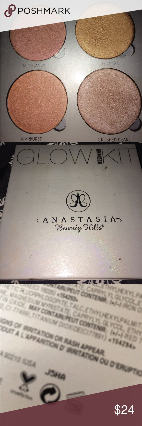 "Anastasia glow kit Going through all my makeup that I never use. Has been gently used as shown. Has about 85% of product left. Perfect for lighter complexions. I prefer the that glow for my warmer skin tones. Baby needs a new home 💁🏻❤️ ""GLEAM"" Anastasia Beverly Hills Makeup"