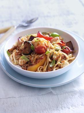 Roasted vegetables, Linguine and Vegetables on Pinterest