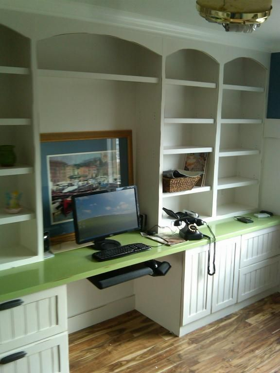 nice with bookshelves vs top cabinets.