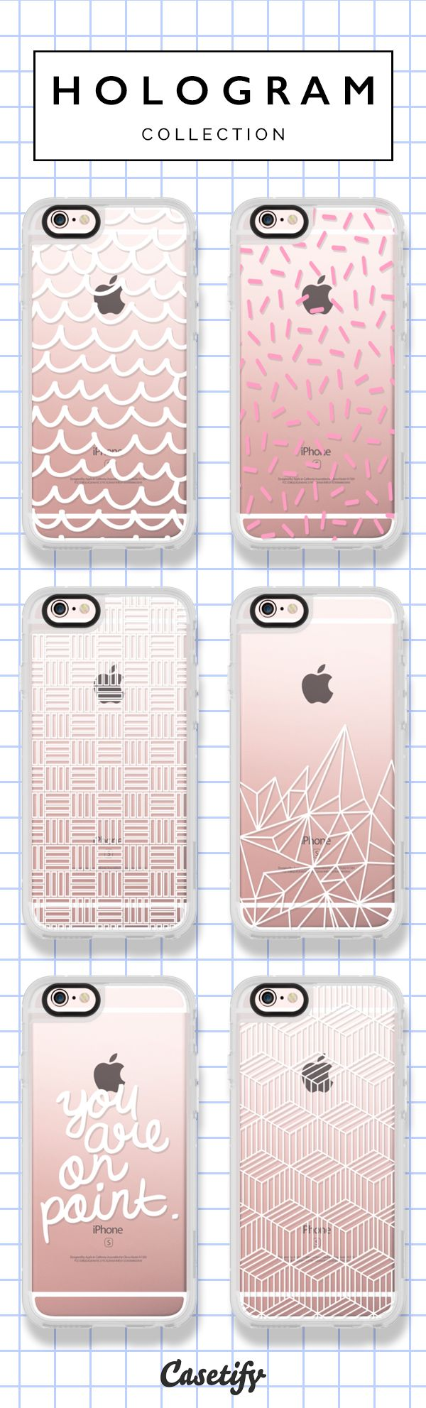 Top 6 minimalist iPhone 6s protective phone cases | Click through to see more iPhone phone case ideas >>> https://www.casetify.com/hologram/collection #minimalist | @casetify