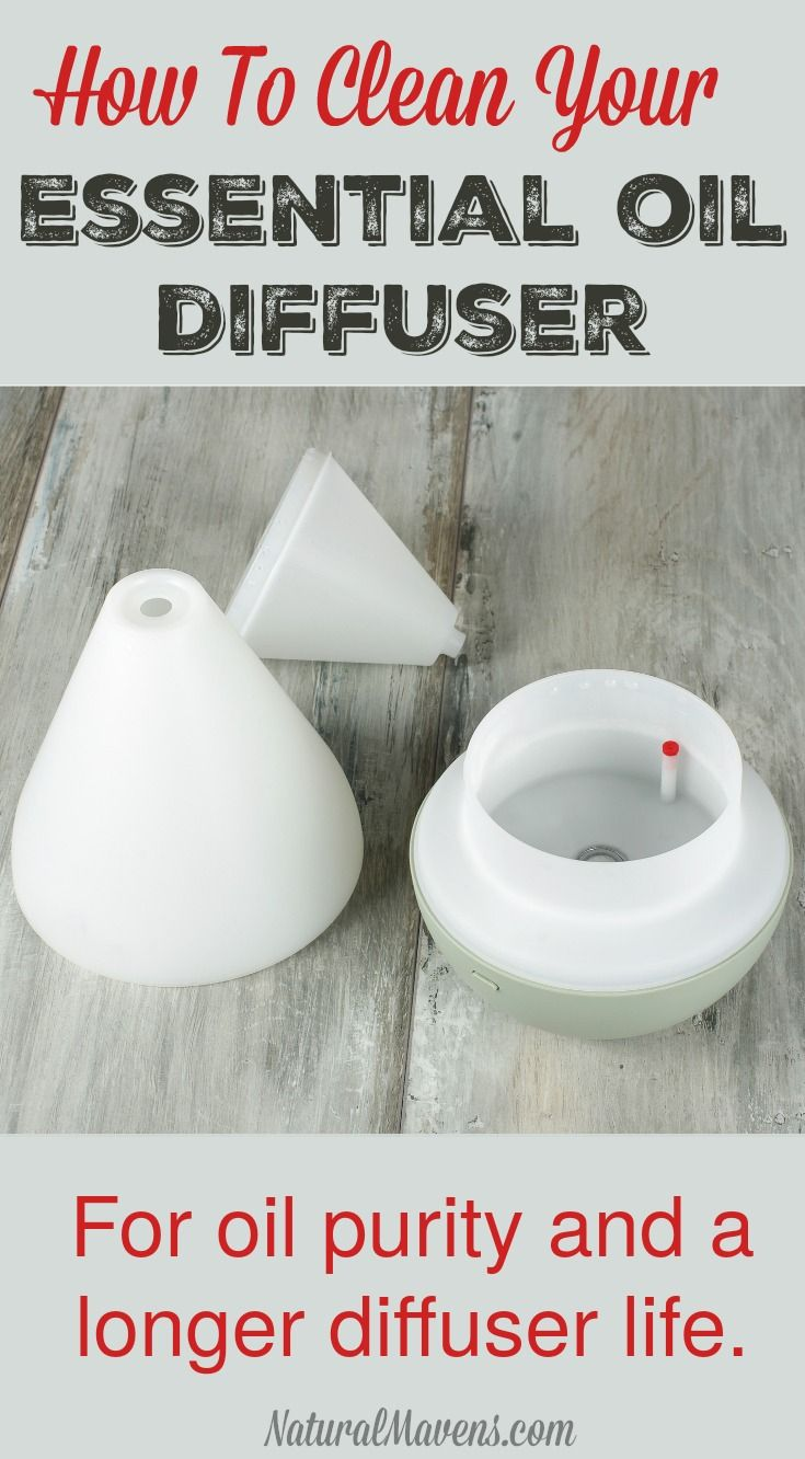 Learn how to clean your essential oil diffuser to ensure oil purity is maintained and increase the life of your diffuser www.NaturalMavens.com