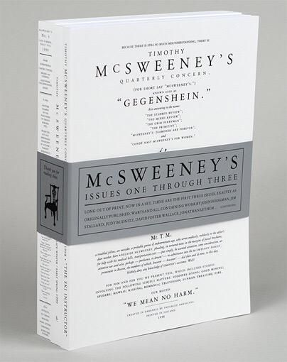 Issue 3 of McSweeney's had a David Foster Wallace short story on the spine.  @PenguinUKBooks   via @gray