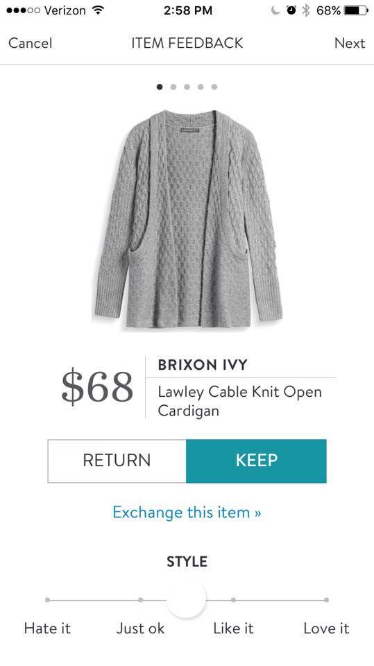 Brixon Ivy Lawley Cable Knit Open Cardigan