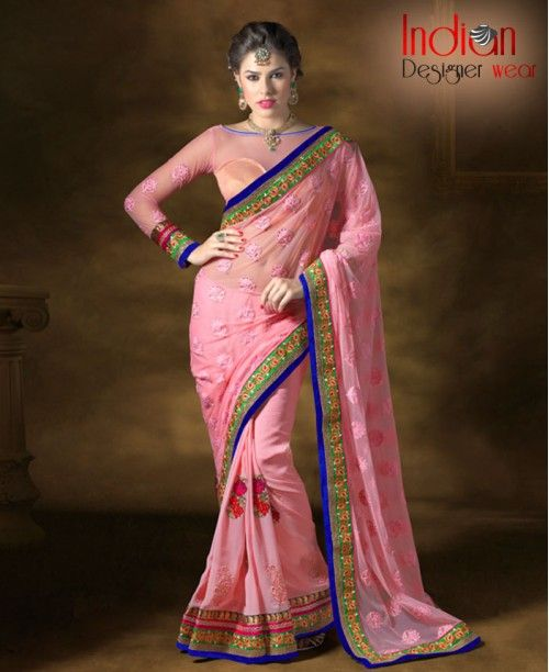 Enticing Soft Pink Saree