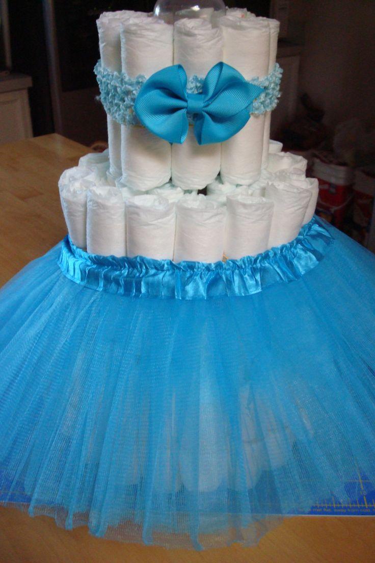 Ballerina Tutu Diaper Cake Kit; Tiffany Themed Baby Shower; New Mom to Be Gifts…