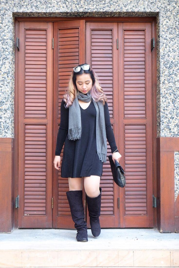 Overknee Boots x Dress #WWWwinter30 @WhoWhatWear #winterlookbook