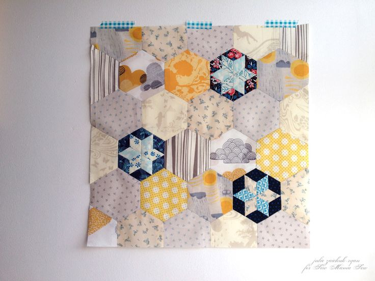 Star Hexies Tutorial | Sew Mama Sew | cute hexie pattern