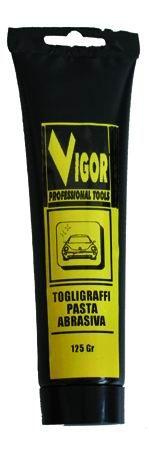 VIGOR PASTA ABRASIVA TOGLI - GRAFFI TUBETTO GR. 125 https://www.chiaradecaria.it/it/prodotti-per-auto/21238-vigor-pasta-abrasiva-togli-graffi-tubetto-gr-125-8011779318434.html