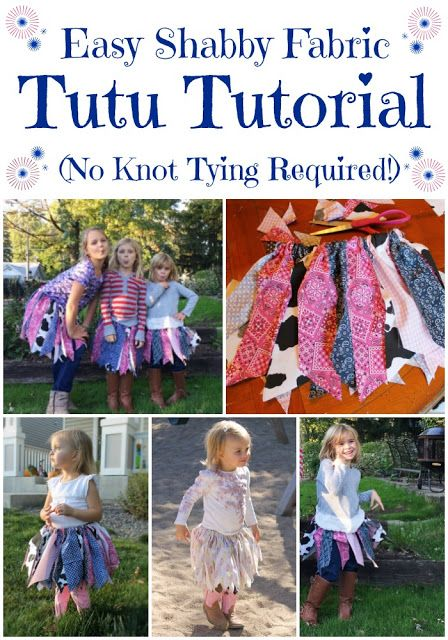 Miss Kopy Kat: No Knot Tying Fabric Tutu Tutorial...make DIY shabby fabric tutus easily and quickly.