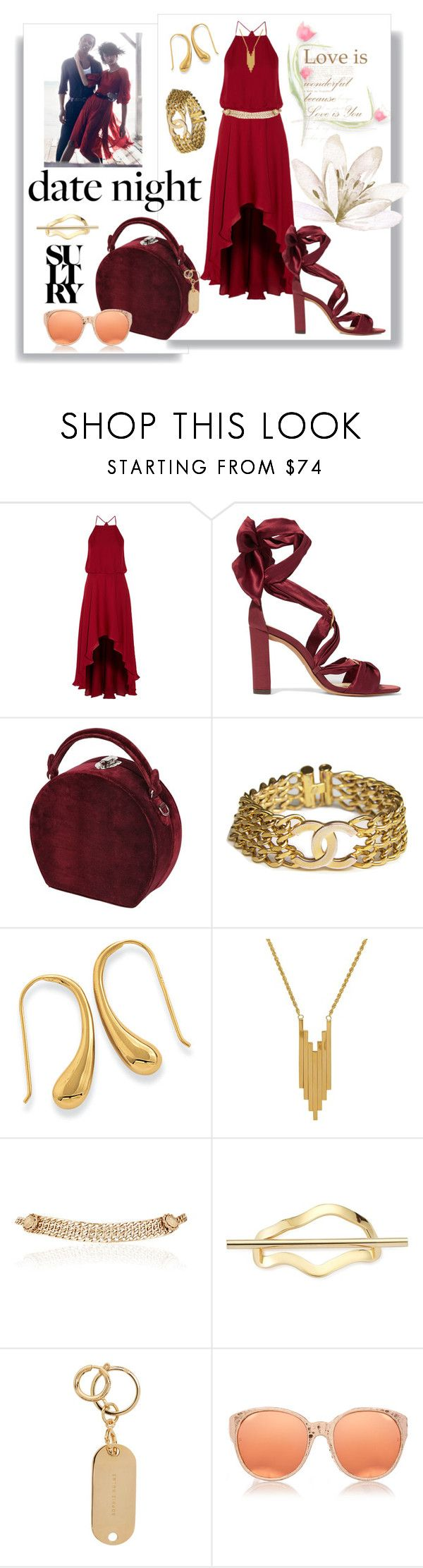 """Hot Summer Date"" by kelly-floramoon-legg ❤ liked on Polyvore featuring Haute Hippie, Alexandre Birman, Bertoni, Chanel, Lord & Taylor, Maison Mayle, Elizabeth and James, Sophie Hulme, Linda Farrow and summerdatenight"