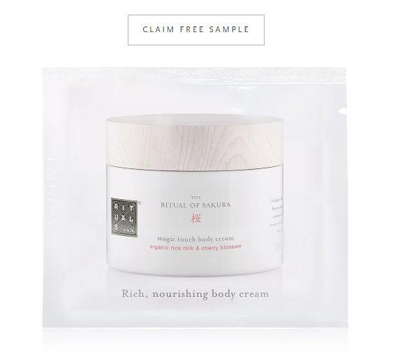 FREE Rituals of Sakura Magic Touch Body Cream! - Free