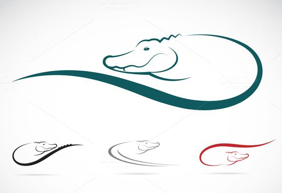 Vector image of an crocodile by yod67 on @creativework247